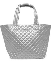 MZ Wallace - Metro Medium Quilted Metallic Shell Tote - Lyst