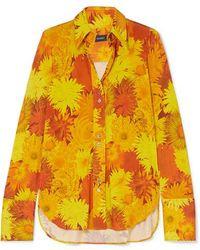 Ellery Walpole Floral-print Stretch-jersey Shirt - Orange