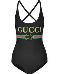 Gucci Bedruckter Badeanzug - Mehrfarbig