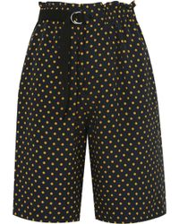 JOSEPH - Luis Polka-dot Silk-georgette Shorts - Lyst