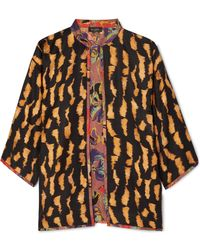 Etro - Reversible Printed Silk-twill Jacket - Lyst