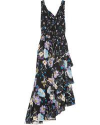3.1 Phillip Lim - Tiered Floral-print Silk-crepon Maxi Dress - Lyst