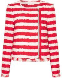 Alice + Olivia - Stanton Striped Tweed Jacket - Lyst