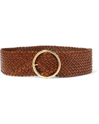 Andersons Woven Leather Belt - Brown