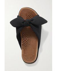 Gabriela Hearst + Net Sustain Virgil Knotted Cashmere Slides - Black