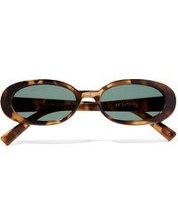 Le Specs - Outta Love Oval-frame Tortoiseshell Acetate Sunglasses - Lyst