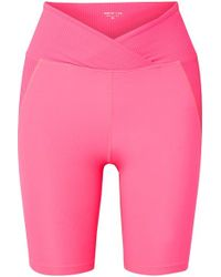 Year Of Ours Studio Biker Panelled Stretch Shorts - Pink