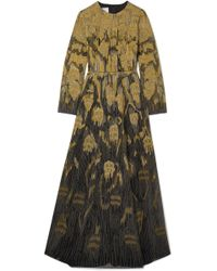 Valentino - Metallic Embroidered Wool-blend And Tulle Gown - Lyst