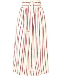 Vanessa Bruno - Ieba Striped Cotton-gauze Midi Skirt - Lyst