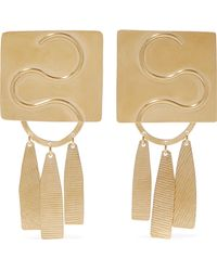 Annie Costello Brown - Clea Gold-tone Earrings Gold One Size - Lyst
