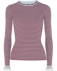KENZO | Striped Ribbed Cotton-blend Jumper | Lyst
