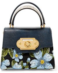 Dolce   Gabbana Dolce Box Watersnake-trimmed Embellished Velvet Tote ... 368d6e9c4eeab