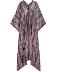 Haney - Estelle Metallic Striped Silk-blend Kaftan - Lyst