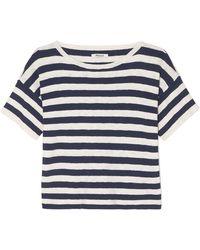 Madewell - Striped Cotton-blend T-shirt - Lyst