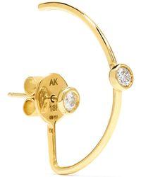 Ana Khouri - Christy 18-karat Gold Diamond Earring - Lyst