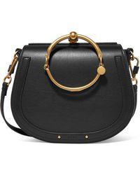 Chloé - Nile Bracelet Medium Leather And Suede Shoulder Bag - Lyst
