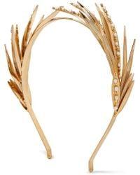 Rosantica Apache Gold-tone Pearl Headband - Metallic