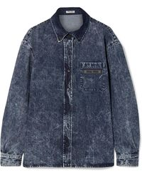 Miu Miu - Oversized Denim Shirt - Lyst