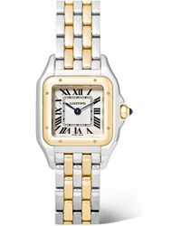 Cartier - Panthère De 22mm Small 18-karat Gold And Stainless Steel Watch - Lyst