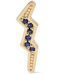 Andrea Fohrman - 14-karat Gold Sapphire Earring - Lyst