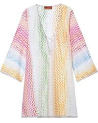 4a1f107769096a Missoni Mare Pleated Lurex Maxi Dress in Pink - Lyst