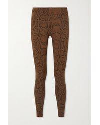 Varley - Luna Snake-print Stretch Leggings - Lyst