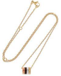 Boucheron Quatre Classique Kette Aus 18 Karat Gold Mit Einem Diamanten - Mettallic