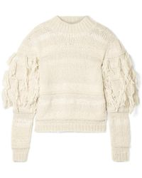 87709c477aa4 Ulla Johnson - Delma Fringed Alpaca And Cotton-blend Jumper - Lyst