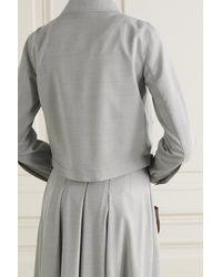 Akris Cropped Wool Jacket - Grey