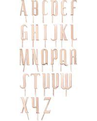 LELET NY - Alphabet Rose Gold-plated Hair Slide - Lyst