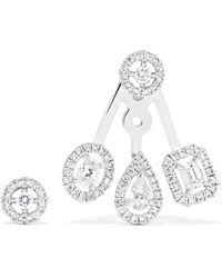 Messika - My Twin Trio 18-karat White Gold Diamond Earrings White Gold One Size - Lyst