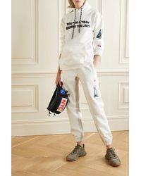Alexander Wang Appliquéd Printed Cotton-jersey Track Pants - Multicolour