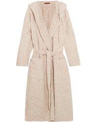 Missoni - Rex Hooded Cotton-terry Robe - Lyst