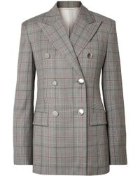 0095a150627a2e CALVIN KLEIN 205W39NYC - Double-breasted Prince Of Wales Checked Wool Blazer  - Lyst