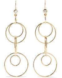 Ippolita - Glamazon Jet Set 18-karat Gold Diamond Earrings - Lyst