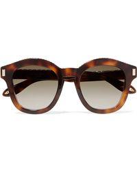 Givenchy - Embellished Round-frame Tortoiseshell Acetate Sunglasses - Lyst