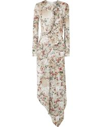Preen By Thornton Bregazzi - Nita Ruffled Floral-print Stretch-crepe Midi Dress - Lyst