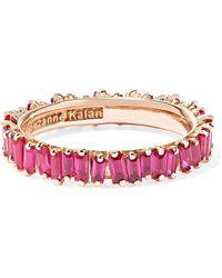 Suzanne Kalan - 18-karat Rose Gold Ruby Ring - Lyst