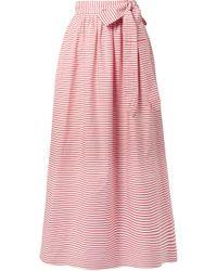 Mara Hoffman - Katrine Striped Organic Cotton Wrap Skirt - Lyst