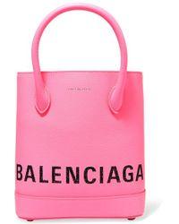Balenciaga - Ville Xxs Aj Printed Textured-leather Tote - Lyst
