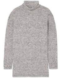 Agnona Mélange Wool-blend Sweater - Gray