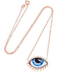 Lito - + Zeus+dione Tu Es Partout 14-karat Rose Gold Enamel Necklace - Lyst