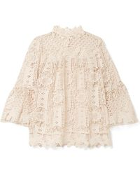 Anna Sui - Guipure Lace Top - Lyst