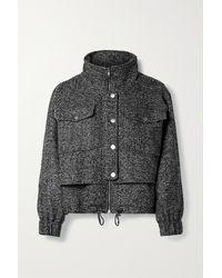 Apiece Apart Selva Herringbone Wool-blend Bomber Jacket - Gray