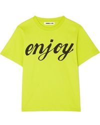 McQ Printed Cotton-jersey T-shirt - Yellow
