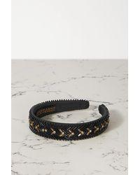 MaryJane Claverol Del Sol Embellished Cotton-blend Headband - Black