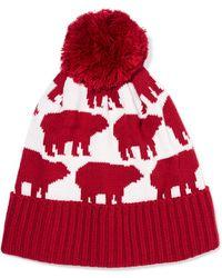 Perfect Moment - Bear Intarsia Wool-blend Beanie - Lyst