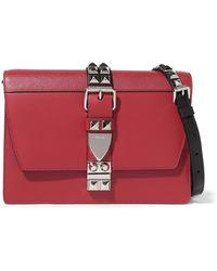 Prada - Elektra Large Studded Leather Shoulder Bag - Lyst