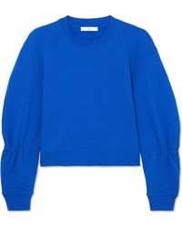 Tibi - Gathered Cotton-jersey Sweatshirt - Lyst