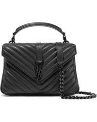 18b7d99ee193 Saint Laurent - College Medium Quilted Leather Shoulder Bag - Lyst